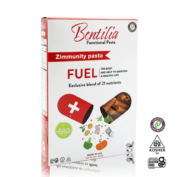【BENTILIA】美國原裝進口綜合蔬活筆管麵1盒(227公克)
