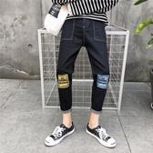 港風夏季男士牛仔褲韓版潮流小腳褲學生修身九分褲直筒百搭褲子男