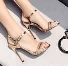 高跟涼鞋 高跟鞋 夏季新款歐美款甜美百搭...