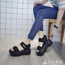 厚底涼鞋女鬆糕2020年夏季新款高跟坡跟網紅ins小碼運動老爹增高 伊衫風尚