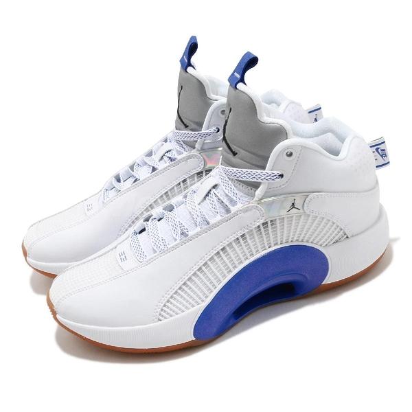 Nike 籃球鞋 Air Jordan XXXV SH PF Sisterhood 白 藍 喬丹 35代 男鞋 AJ35 三十五代【ACS】 DH3128-100