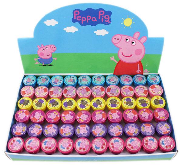 【卡漫城】 佩佩豬 印章 六顆組 ㊣版 台灣製 粉紅豬小妹 Peppa pig 玩具 印章 奬勵 圖章 文字 鼓勵