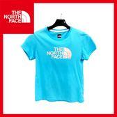 【The North Face 女童 風格T恤《幸運藍》】A3MA/休閒/戶外/運動/便服