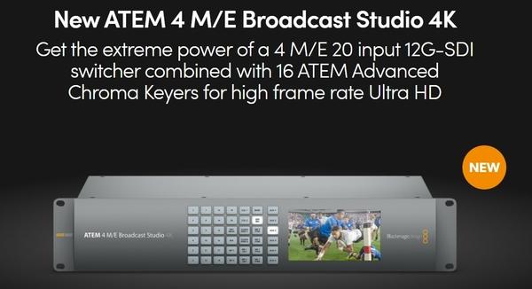 【BMD】BlackMagic ATEM 4 M/E Broadcast Studio 4K 現場製作切換台 公司貨