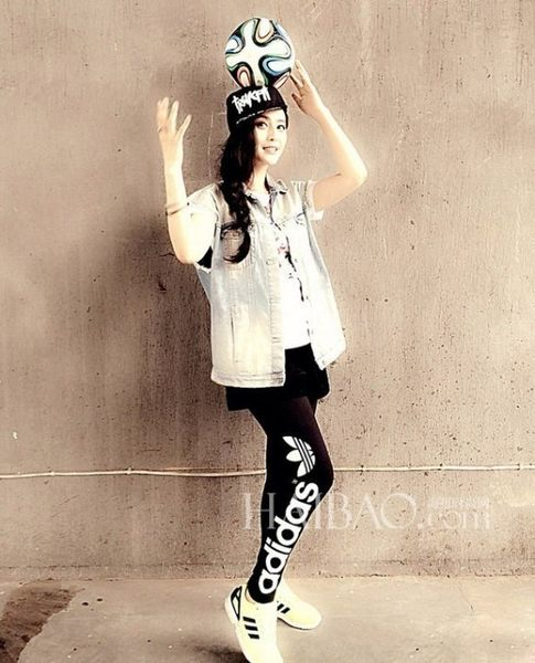 adidas Originals 愛迪達 三葉草 LEGGING 黑白 黑色 AJ8081 內搭褲 九分褲 范冰冰/澤米