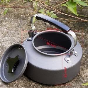 ♥巨安網購♥【20107011522】野外茶壺野營鋁合金1.1L咖啡壺便攜開水壺