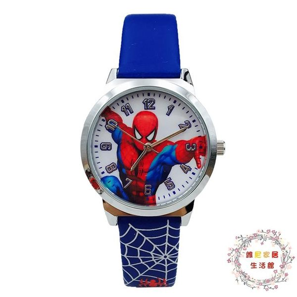 蜘蛛俠兒童手錶男孩中小學生男童卡通手錶電子石英錶