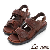 La new  雙密度氣墊涼鞋-男214055024