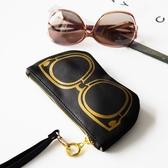 旅行眼鏡收納包太陽眼鏡袋便攜墨鏡袋子眼睛保護套男女整理韓國