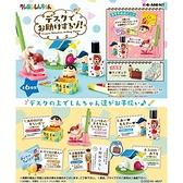 盒裝6款【日本正版】蠟筆小新 桌上小物組 盒玩 擺飾 辦公小物 野原新之助 風間徹 Re-Ment 205595