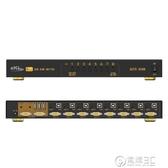 EKL KVM切換器8口機架式USB自動手動遙控音頻多電腦vga 8進1出2出 電購3C