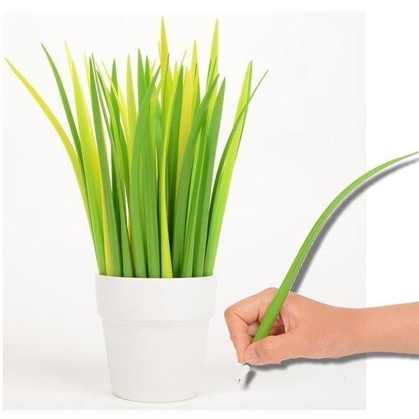小草中性筆 三星蔥筆 青蔥 造型筆盆栽造型原子筆 療癒小物 辦公室 學生上課文具禮物【RS458】