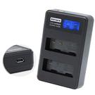Kamera 佳美能 液晶雙槽充電器 for DMW-BLE9,BLG10(一次充兩顆電池)