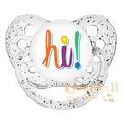 美國 ulubulu ,個性化造型安撫奶嘴,德國製Hi-Glitter Clear