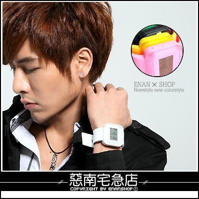 惡南宅急店【0003F】微光小物電子果凍錶『日本糖果系色彩錶』情侶對錶,單款區