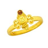 幸運草金飾-招財蟾-黃金戒指