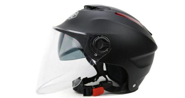 店長推薦永恒摩托車頭盔雙鏡片防曬個性夏季半盔半覆式電動車四季男女通用
