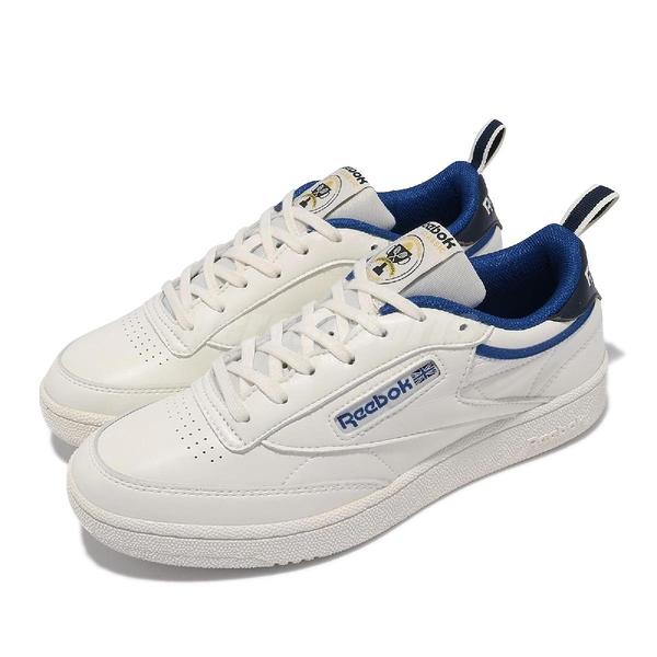 Reebok 休閒鞋 Club C 85 白 藍 復古 基本款 男鞋 女鞋 情侶鞋 小白鞋 【ACS】 FX3359