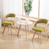 陽台桌 現代簡約陽臺休閑桌椅組合 北歐臥室創意實木桌椅子小茶幾三件套【樂享生活館】liv