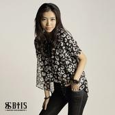 【BTIS】雪紡透膚短袖罩衫  / 米白色