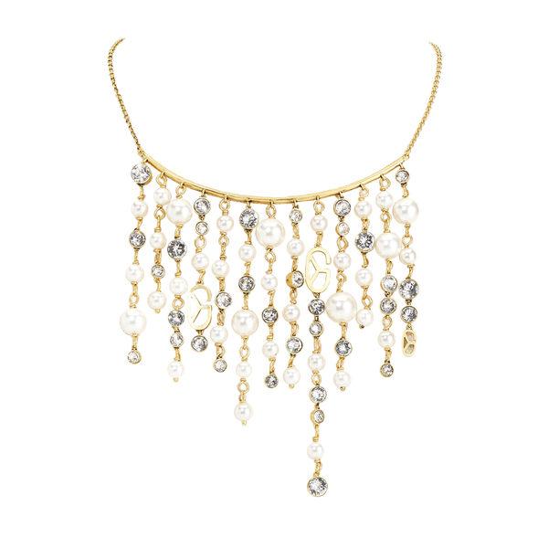 項鍊 Necklace 晚宴 宴會 銅鍍14K金  施華洛世奇水鑽 貝殼珠