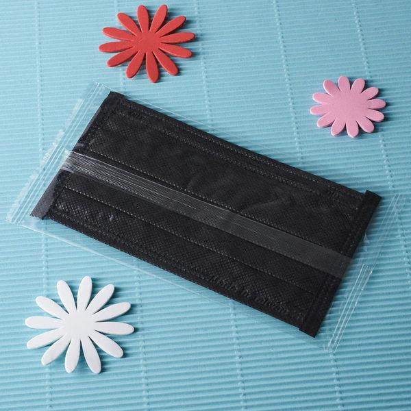 黑色口罩【雨晴牌-抗UV四層不織布口罩】(單片裝)◎成人-時尚黑◎無異味 檢驗抗UV達95%超防曬