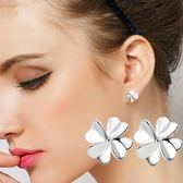 女耳釘時尚葉草鍍銀耳釘耳環韓國鍍銀飾品防過敏耳飾《小師妹》ps400