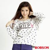 BOBSON 女款點點長袖上衣(32072-81)