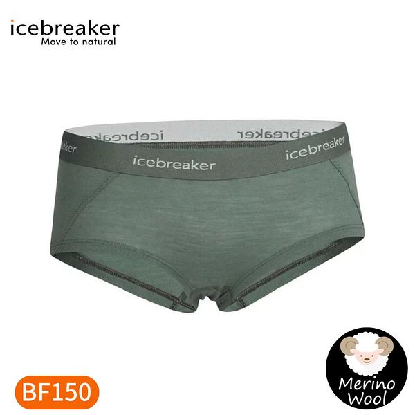 【Icebreaker 女 Sprite四角內褲BF150《鼠尾草綠》】IB103023/平口內褲/內著