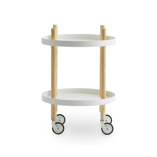 丹麥 Normann Copenhagen Block Round Trolley Table 布拉格 圓桌 收納推車 / 活動邊桌(白色款)