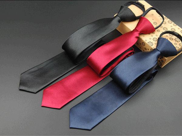 vivi領帶家族/黑色/深藍色/紅色/7cm素面、拉鍊領帶...免打結...