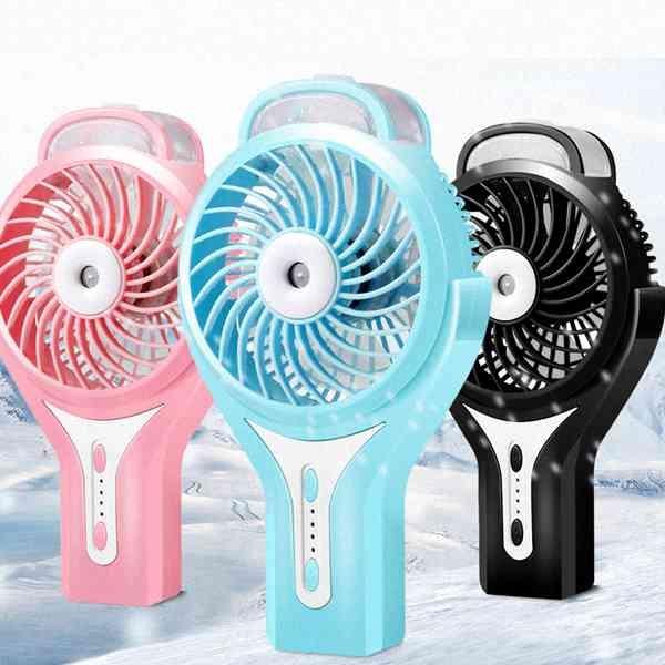 立冷 手持 噴霧 風扇 保濕 充電式 USB 電風扇 迷你風扇 小電扇 省電 靜音 居家 『無名』 N05131