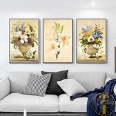 十字繡客廳滿繡小件百合玫瑰簡單線繡【雲木雜貨】