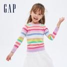 Gap女幼童 撞色條紋圓領針織衫 645214-彩色條紋