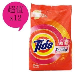TIDE 花香洗衣粉(330g)*12包