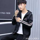 風衣 夾克男新款男士外套男韓版修身個性帥氣潮流風衣棒球服男   美斯特精品