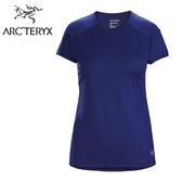 【Arc'teryx 始祖鳥】KAPTA 圓領快乾短袖排汗衣 女款 哈伯藍 #25136