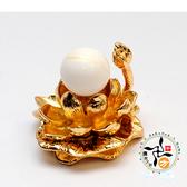 金線硨磲球+金蓮座  【十方佛教文物】