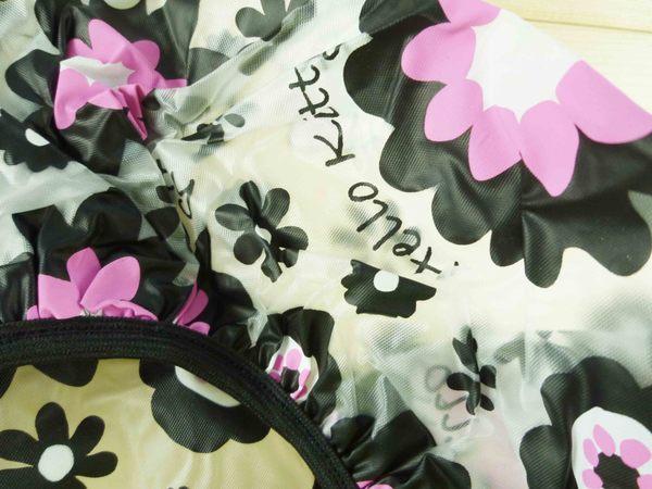 【震撼精品百貨】Hello Kitty 凱蒂貓~浴帽~黑花【共1款】