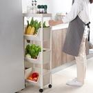落地式廚房置物架 可行動夾縫收納筐家用多層收納架小推車 NMS 樂活生活館
