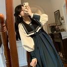 法式茶歇連身裙宮廷風復古輕奢小眾炸街荷葉邊長裙氣質仙女裙子冬 童趣屋
