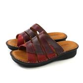 HUMAN PEACE 拖鞋 厚底 紅/紫 女鞋 12497 no005