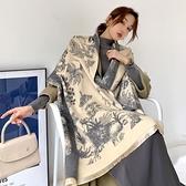 網紅圍巾女夏季辦公室空調保暖披肩斗篷送媽媽百搭仿羊絨羊毛圍脖快速出貨