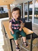 女童襯衫 嬰童裝兒童洋氣寶寶櫻桃襯衣領口蝴蝶結女童短 珍妮寶貝