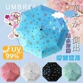【FL生活+】自動開合碳纖維抗UV變色晴雨傘-96公分(FL-028)抗紫外線50+~雨天變色~無敵傘~勝反折傘