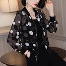 雪紡黑色波點防曬衣外套女裝洋氣長袖輕薄棒球服上衣2020夏季新款 黛尼時尚精品