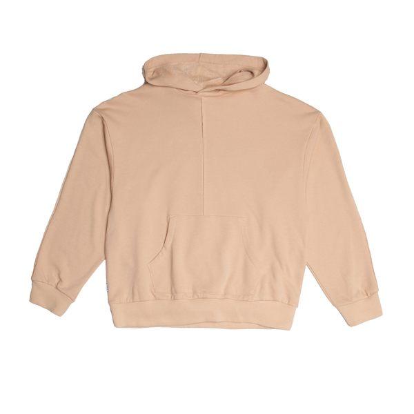FAIRPLAY LYRIC SAND 沙色 長袖 連帽T恤 休閒 棉質 寬版 素色 基本【GT Company】
