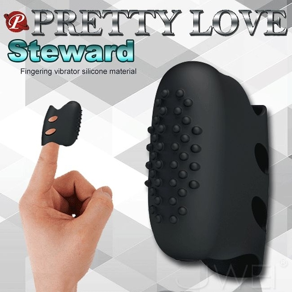 情趣用品 BAILE‧Steward指尖情人手指震動套(凸點刺激) 愛的蔓延