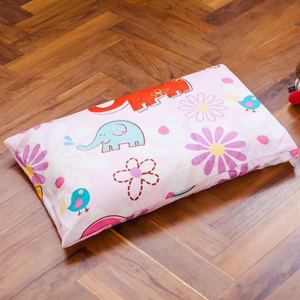 枕頭/ 兒童枕-防蹣抗菌乳膠枕/精梳棉/心心象印/美國棉授權品牌[鴻宇]台灣製-1851