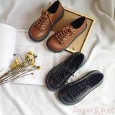娃娃鞋英倫低幫馬丁鞋大頭娃娃圓頭單鞋日系原宿風皮鞋女厚底中跟鬆糕鞋 交換禮物